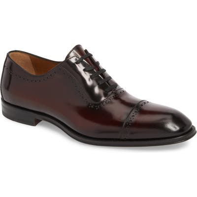 Bruno Magli Lucca Cap Toe Oxford- Burgundy