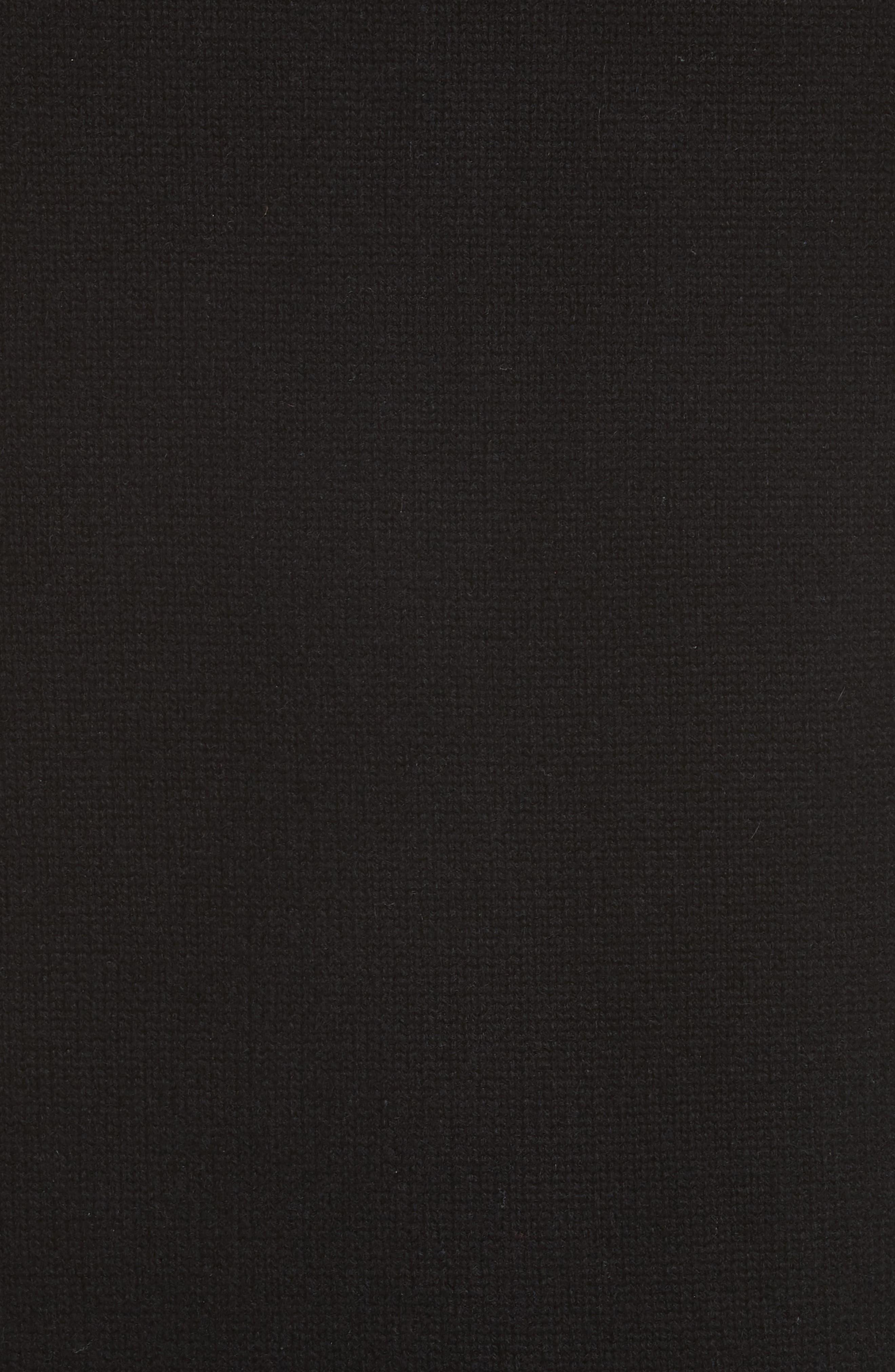 ,                             Elqui Logo Button Cashmere Cardigan,                             Alternate thumbnail 6, color,                             BLACK