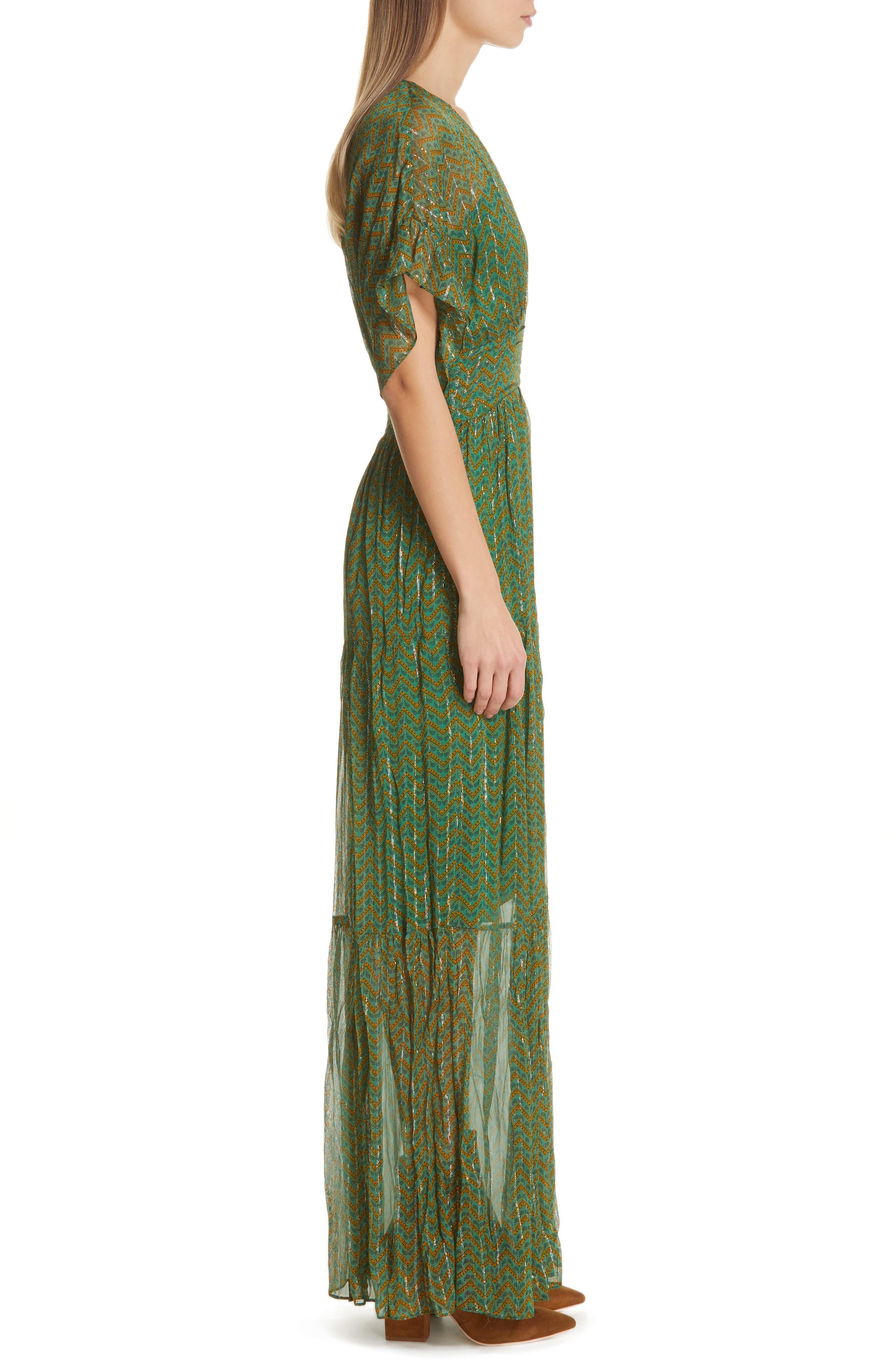 ,                             Wanda Metallic Accent Maxi Dress,                             Alternate thumbnail 4, color,                             VERT