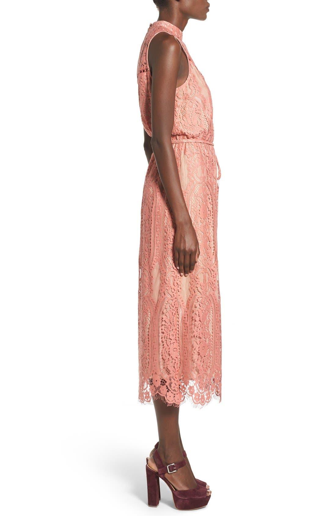 ,                             'Portrait' Lace Midi Dress,                             Alternate thumbnail 11, color,                             840