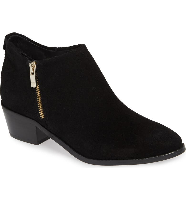 TARYN ROSE Sabrina Bootie, Main, color, BLACK SUEDE