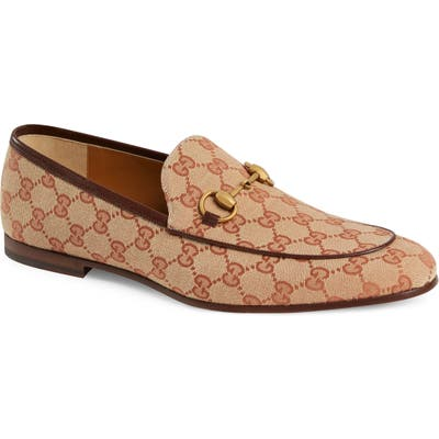 Gucci Jodraan Gg Canvas Loafer, Brown