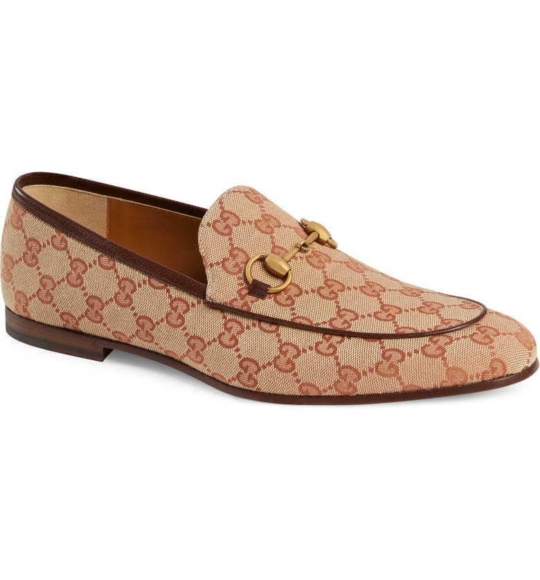 GUCCI Jodraan GG Canvas Loafer, Main, color, BEIGE MULTI