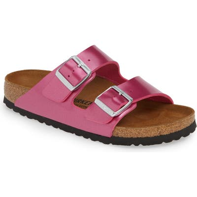 Birkenstock Arizona Electric Slide Sandal, Pink