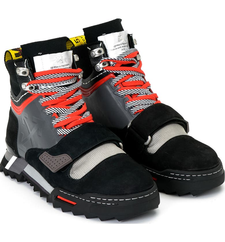 OFF-WHITE Hiking Sneaker Boot, Main, color, BLACK MEDIUM GREY