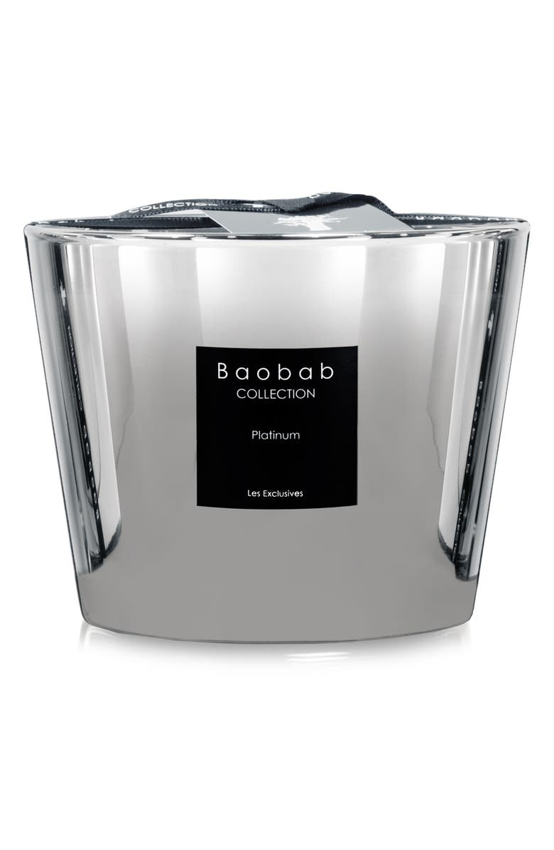 BAOBAB COLLECTION Les Exclusives Platinum Candle, Main, color, PLATINUM- SMALL
