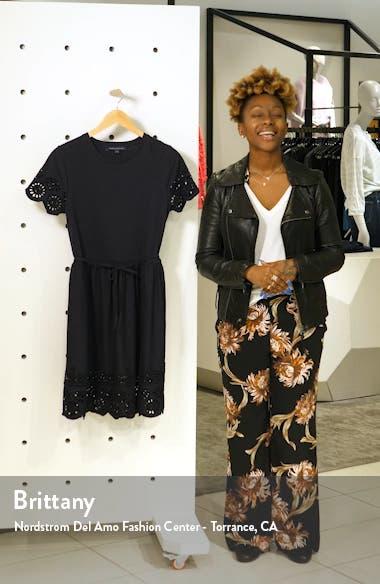Santoline Cotton Eyelet Jersey Fit & Flare Dress, sales video thumbnail