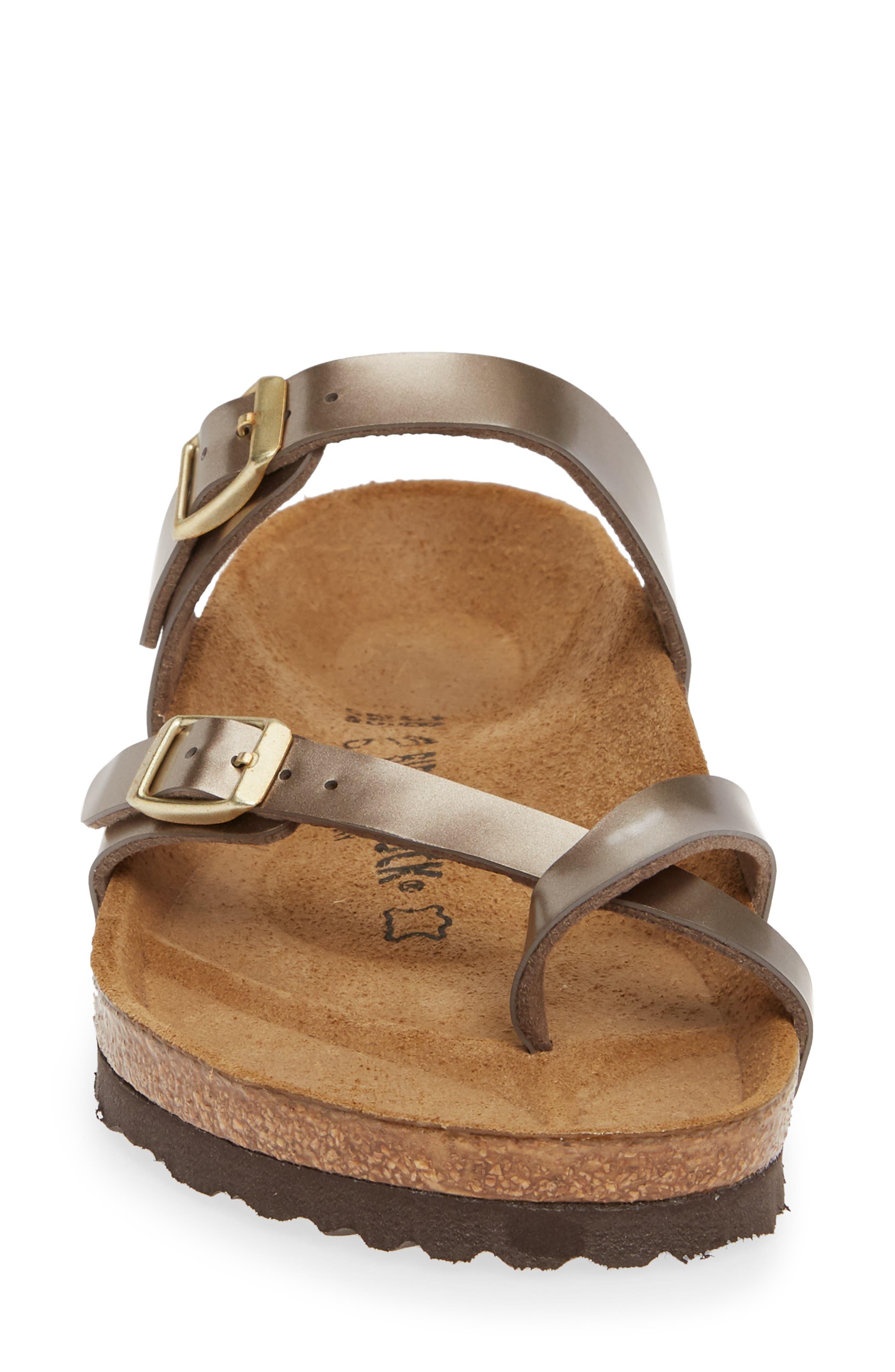 ,                             Mayari Slide Sandal,                             Alternate thumbnail 4, color,                             ELECTRIC METALLIC TAUPE
