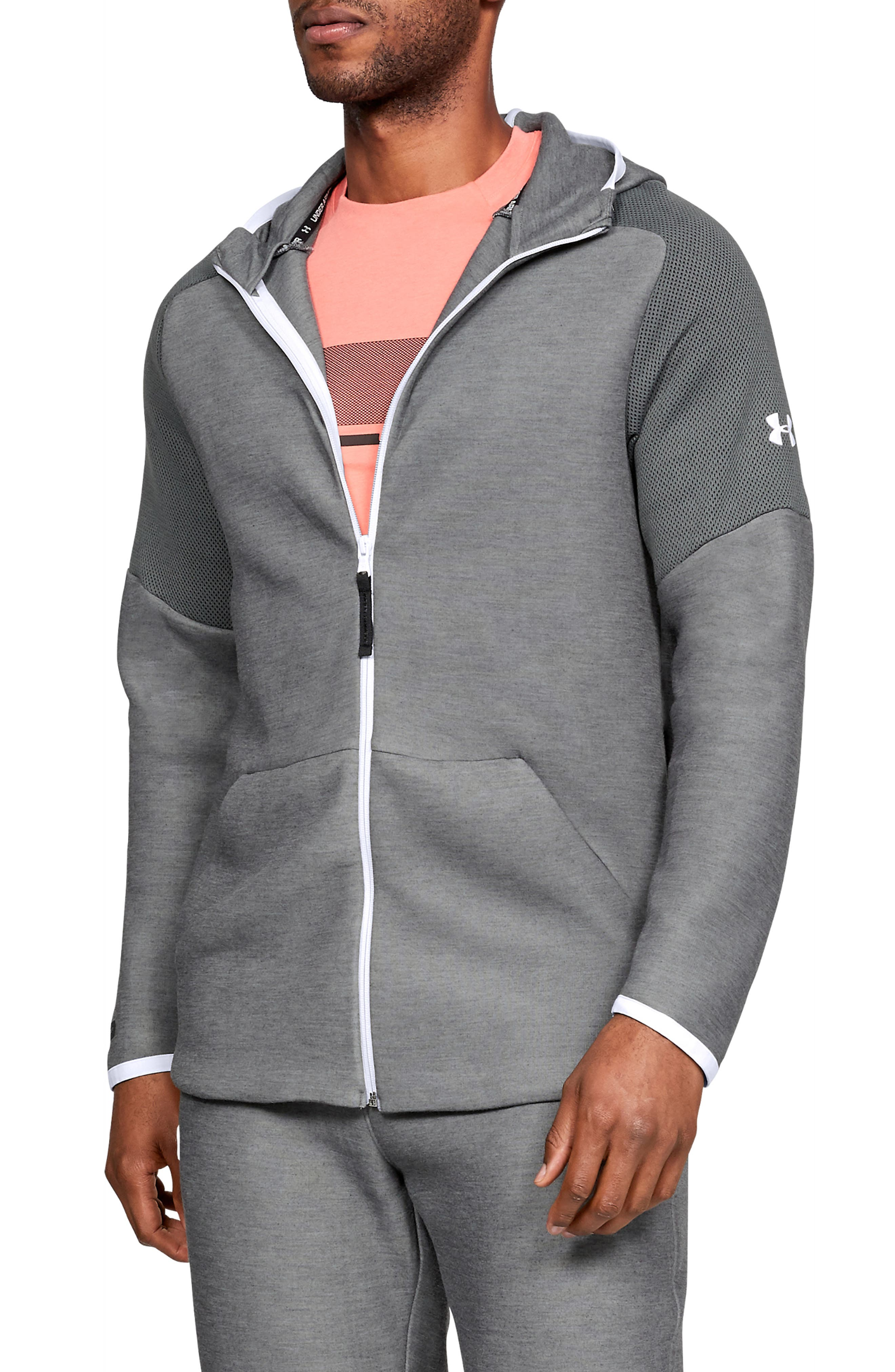Unstoppable Move Light Full-Zip Hooded Sweatshirt, Main, color, 002