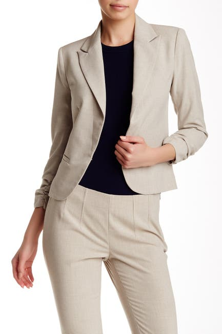 Image of Amanda & Chelsea Signature Peak Lapel 3/4 Sleeve Blazer