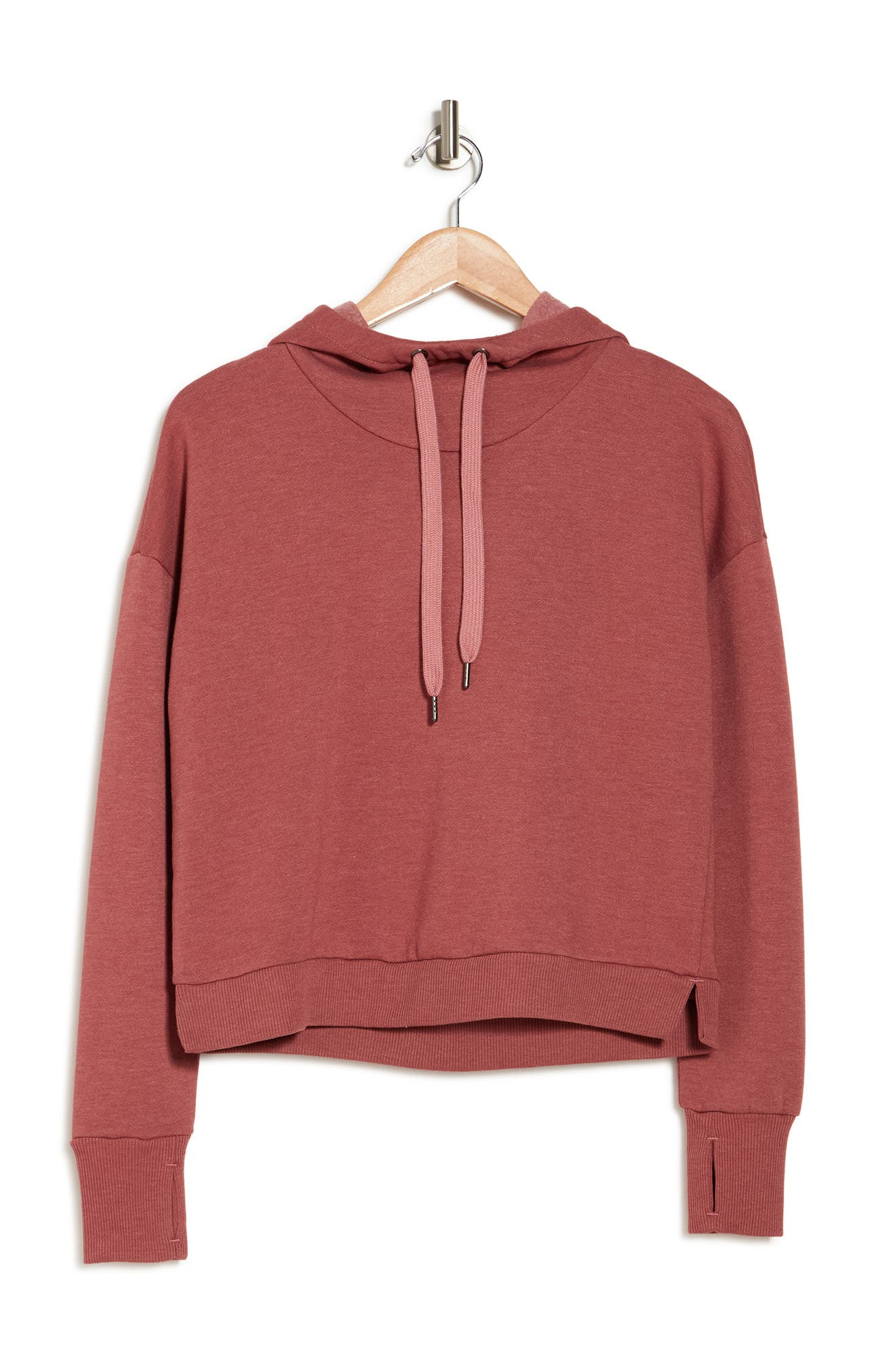 Image of 90 Degree By Reflex Stone Washed Cropped Hoodie