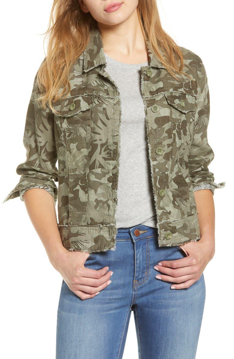 TOMMY BAHAMA Camo Canyon Jacket, Main, color, TEA LEAF