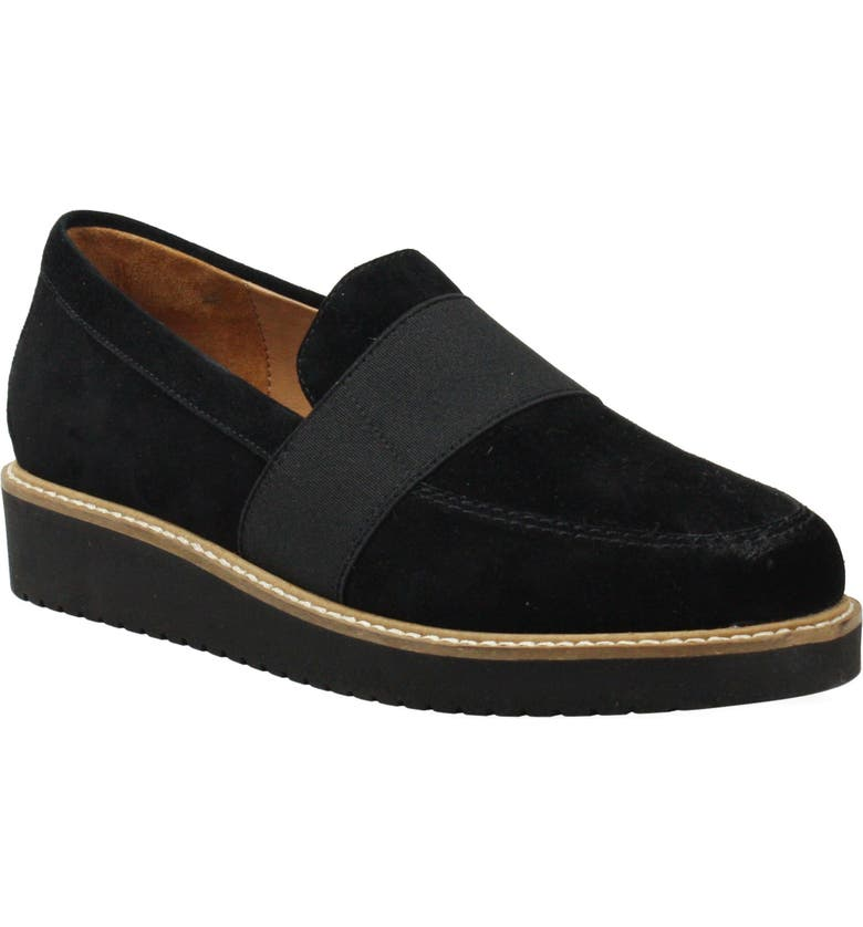 L'AMOUR DES PIEDS Xanthus Loafer, Main, color, BLACK SUEDE