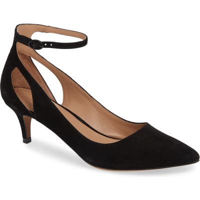 Linea Paolo Carrie Ankle Strap Pump, Black