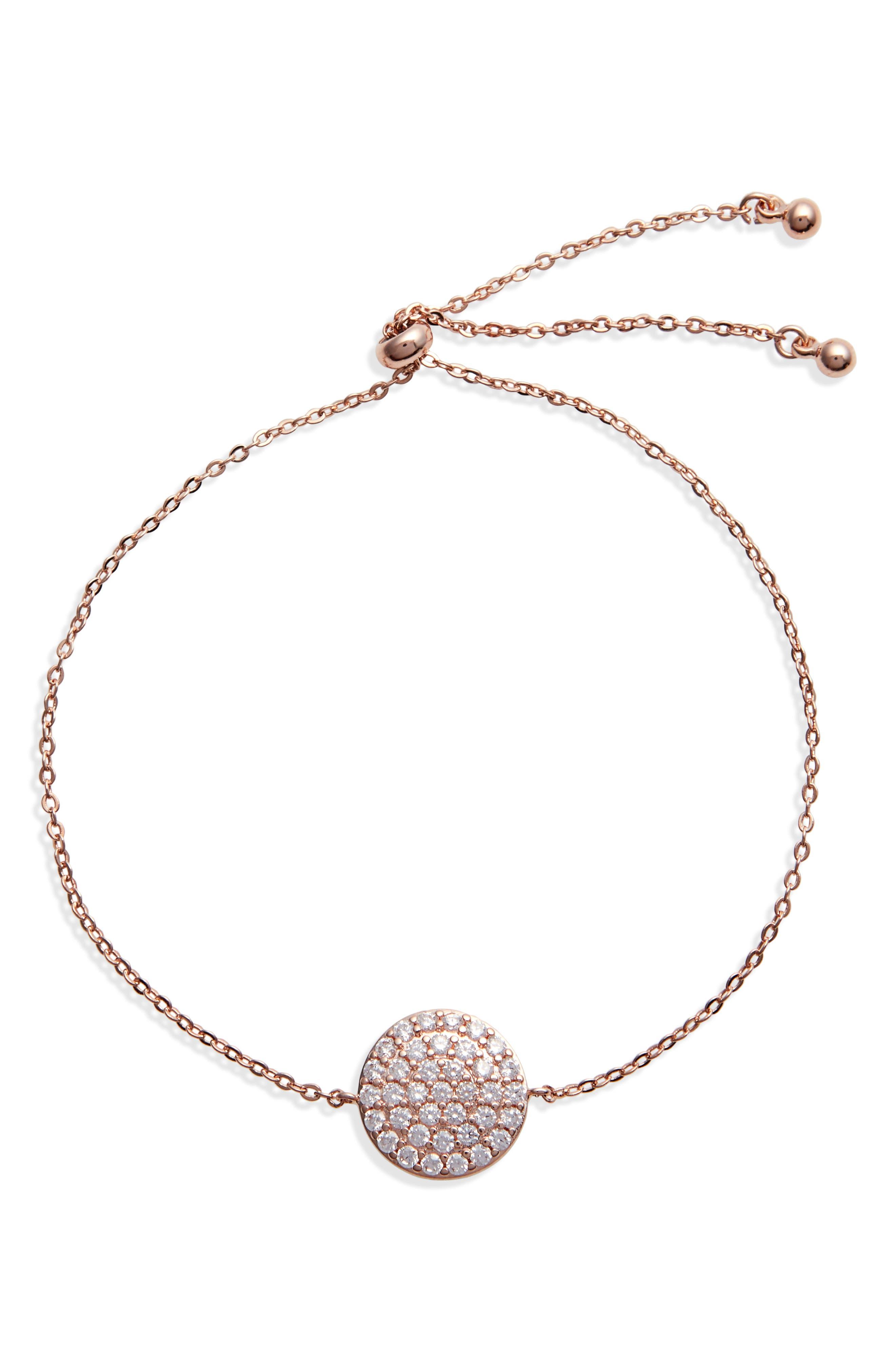 Women s Nordstrom Pave Disc Slider Bracelet E539