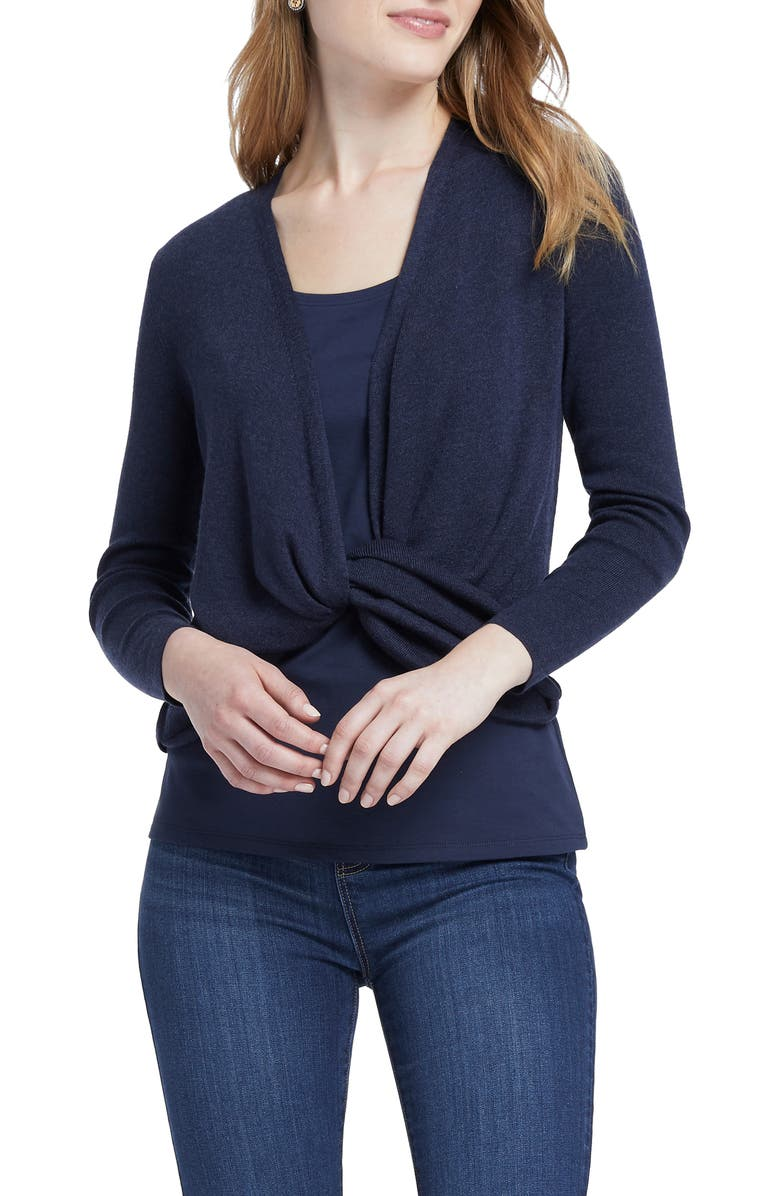 NIC+ZOE Four-Way Cardigan, Main, color, DARK INDIGO