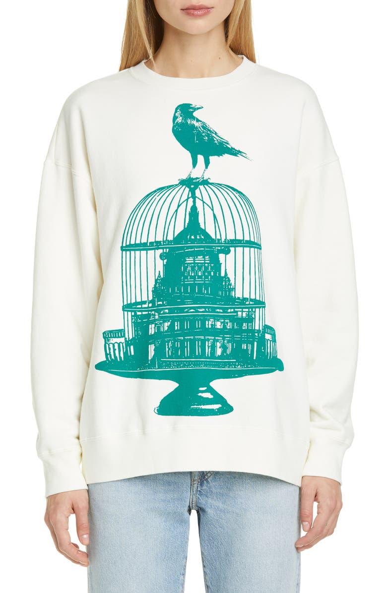 UNDERCOVER Crow Graphic Sweatshirt, Main, color, 900