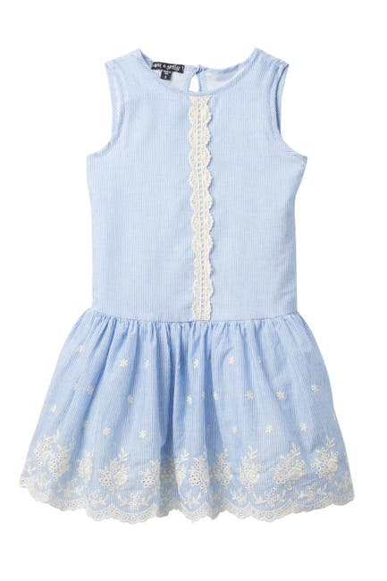 Image of AVA AND YELLY Eyelet Drop Waist Dress