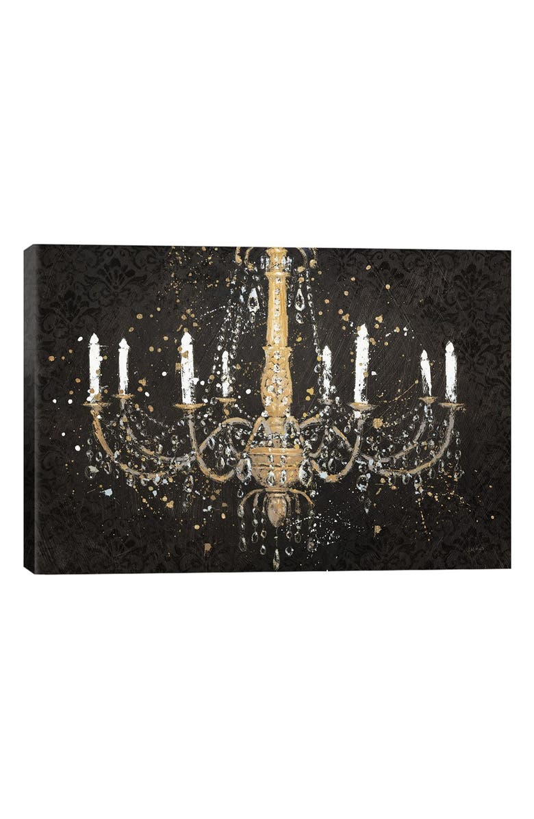 ICANVAS 'Grand Chandelier' Giclée Print Canvas Art, Main, color, BLACK