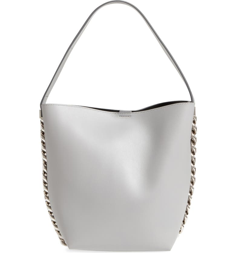 GIVENCHY Infinity Calfskin Leather Bucket Bag, Main, color, 051