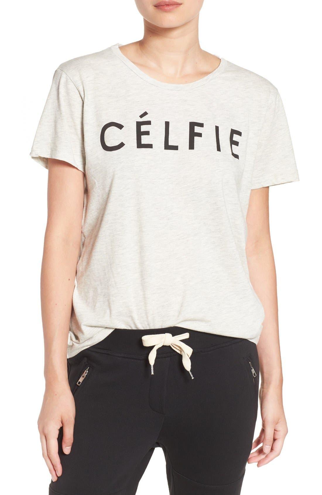 ,                             'Célfie' Graphic Tee,                             Main thumbnail 6, color,                             020
