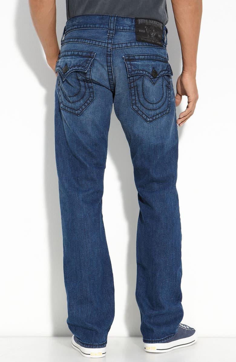 TRUE RELIGION BRAND JEANS 'Ricky' Straight Leg Jeans, Main, color, 451