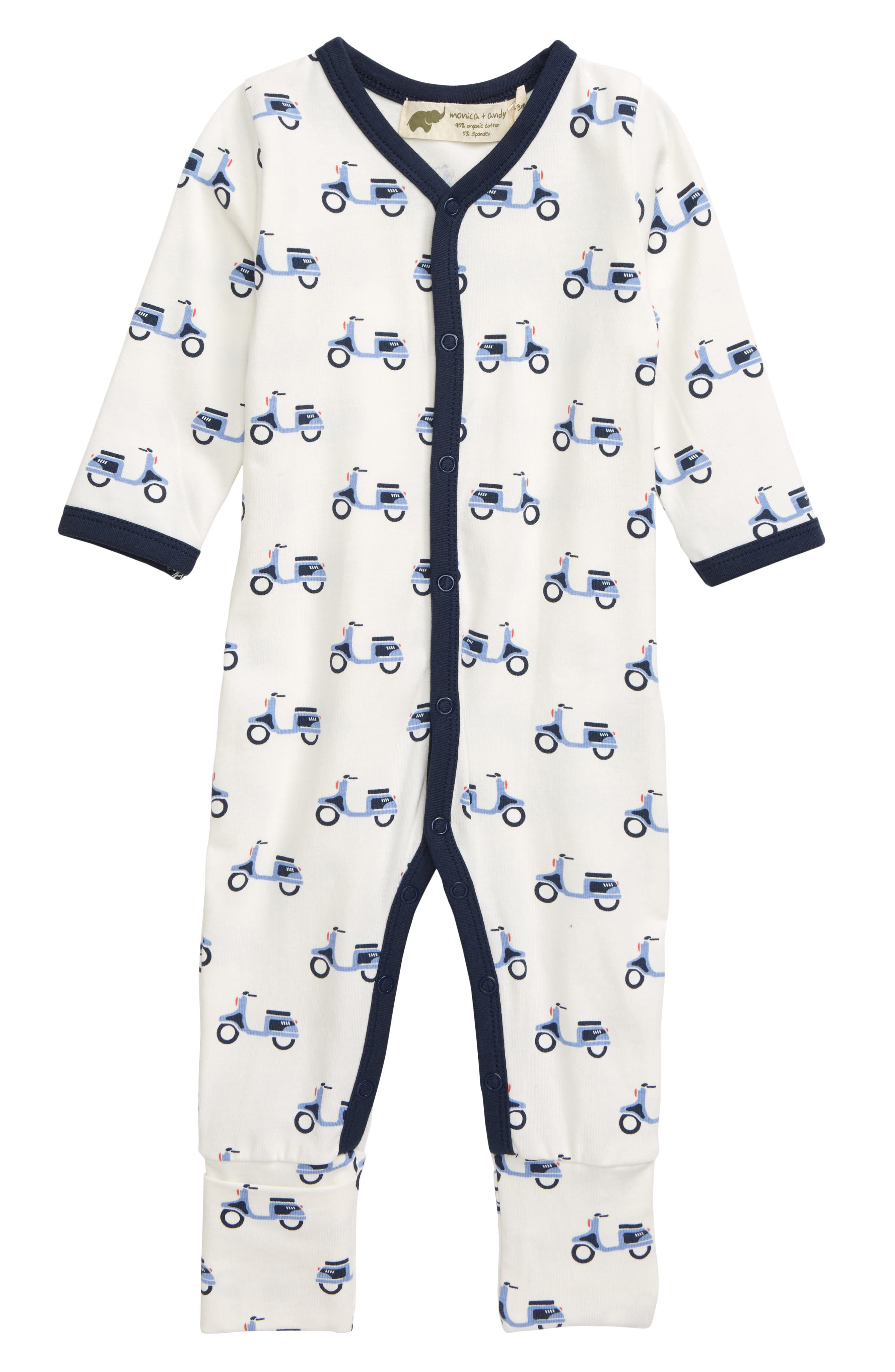Infant Boys Monica  Andy On The Go Convertible Romper Size 03M  White