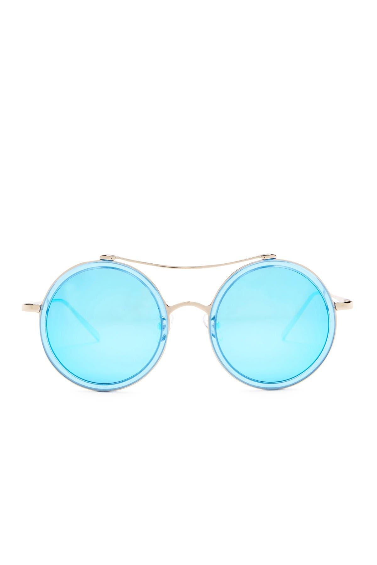 Image of AQS XO 50mm Round Browbridge Sunglasses