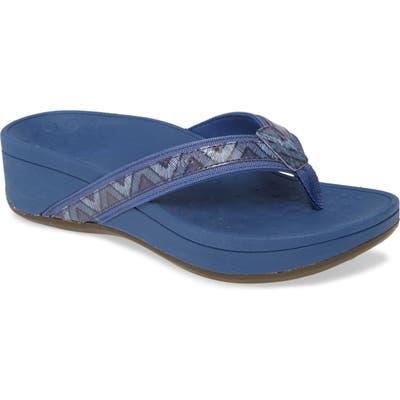 Vionic High Tide Wedge Flip Flop, Blue