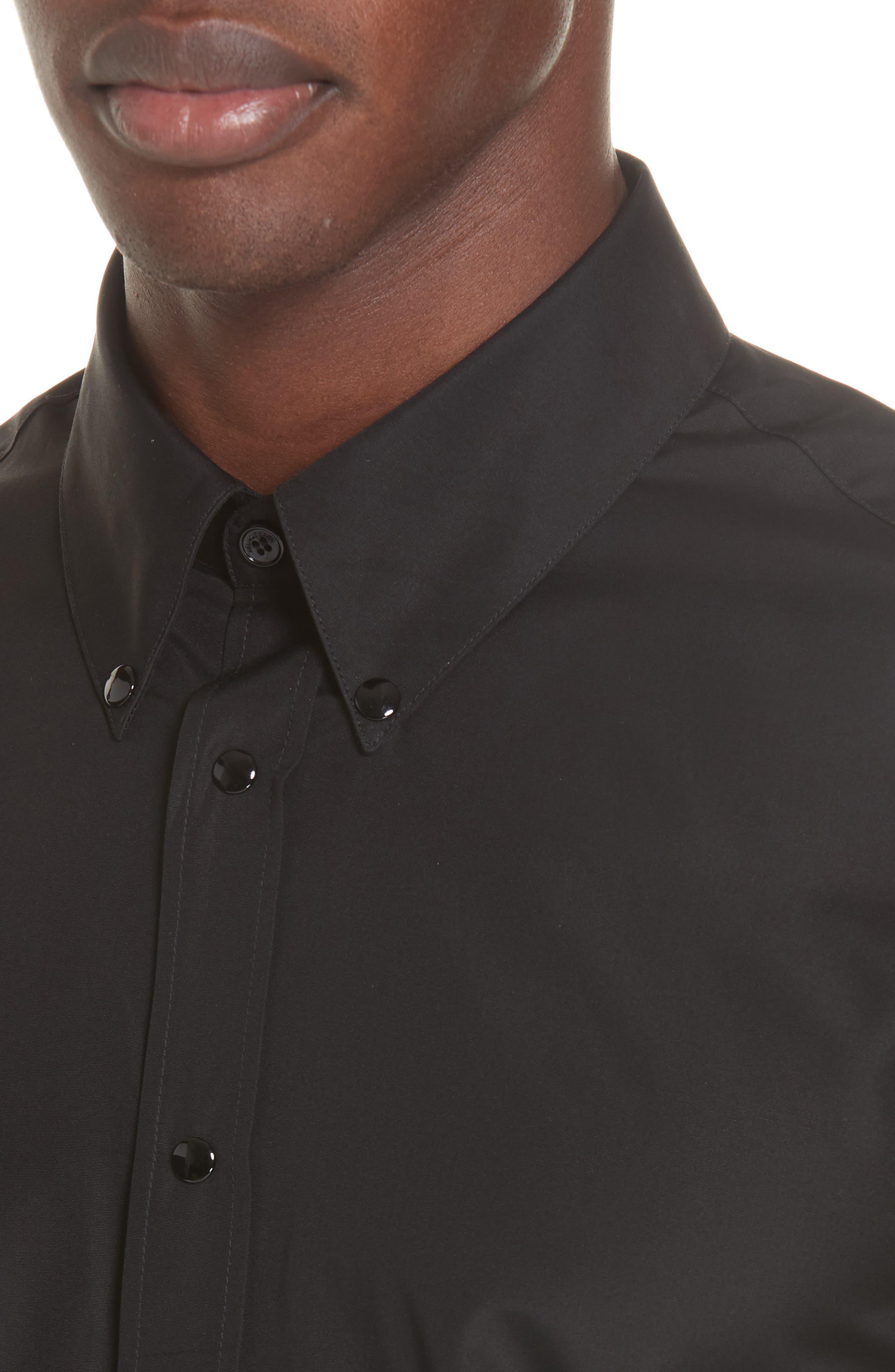 ,                             Woven Shirt,                             Alternate thumbnail 2, color,                             BLACK