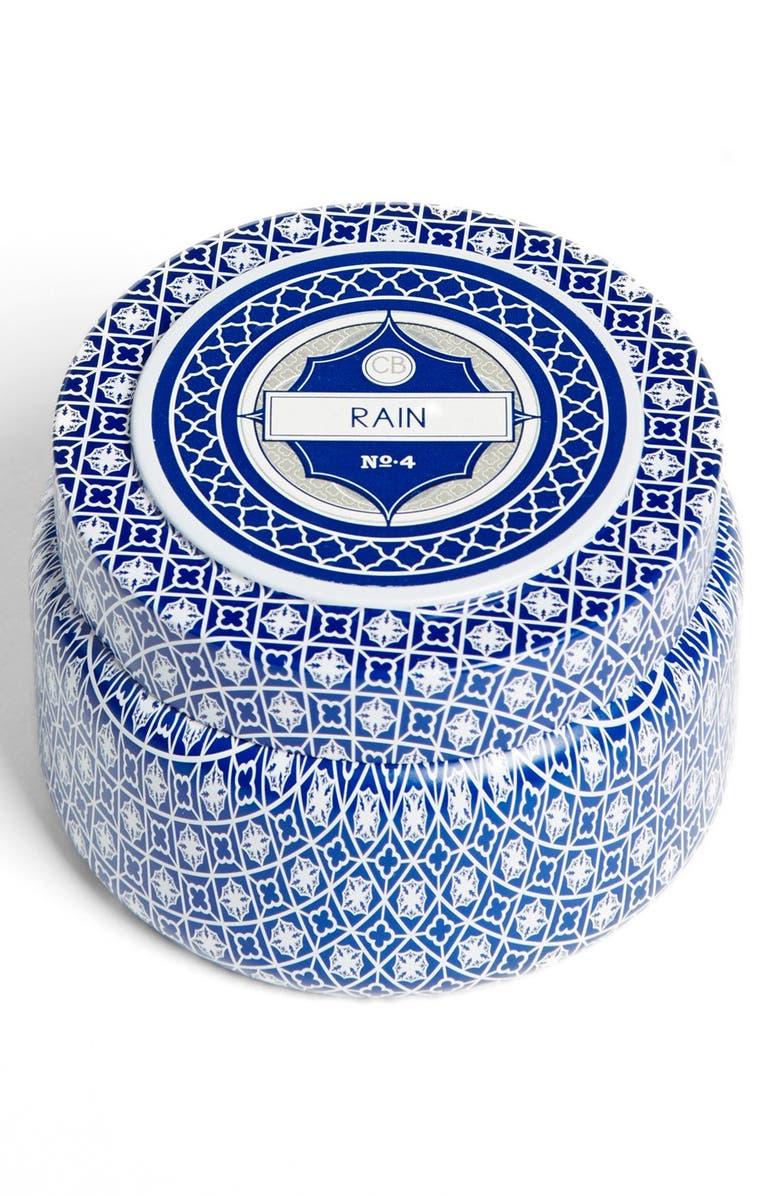 CAPRI BLUE Printed Tin Candle, Main, color, 400