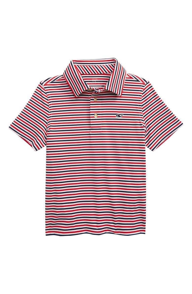 VINEYARD VINES Stripe Performance Polo, Main, color, 634