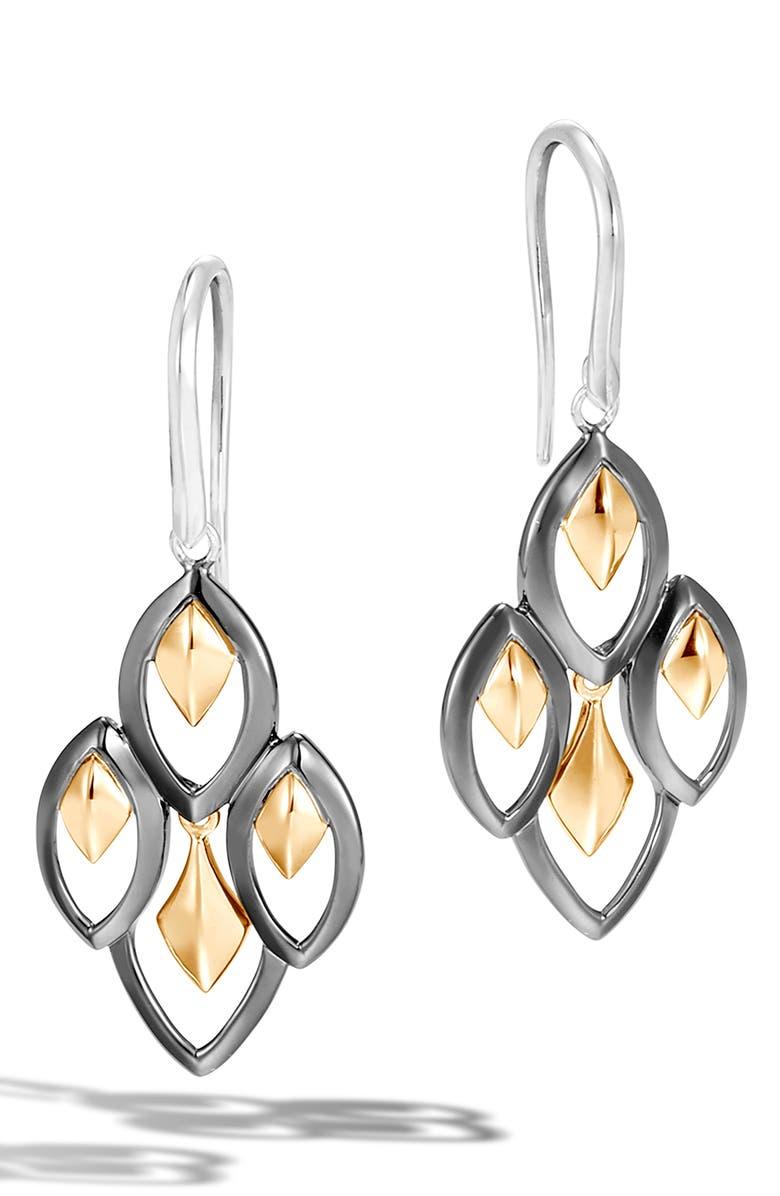 JOHN HARDY Legends Naga Drop Earrings, Main, color, SILVER/ GOLD
