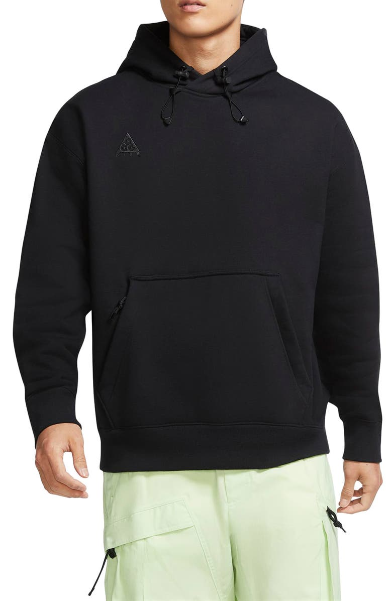 NIKE ACG Cotton Blend Hoodie, Main, color, BLACK/ ANTHRACITE/ CARGO KHAKI