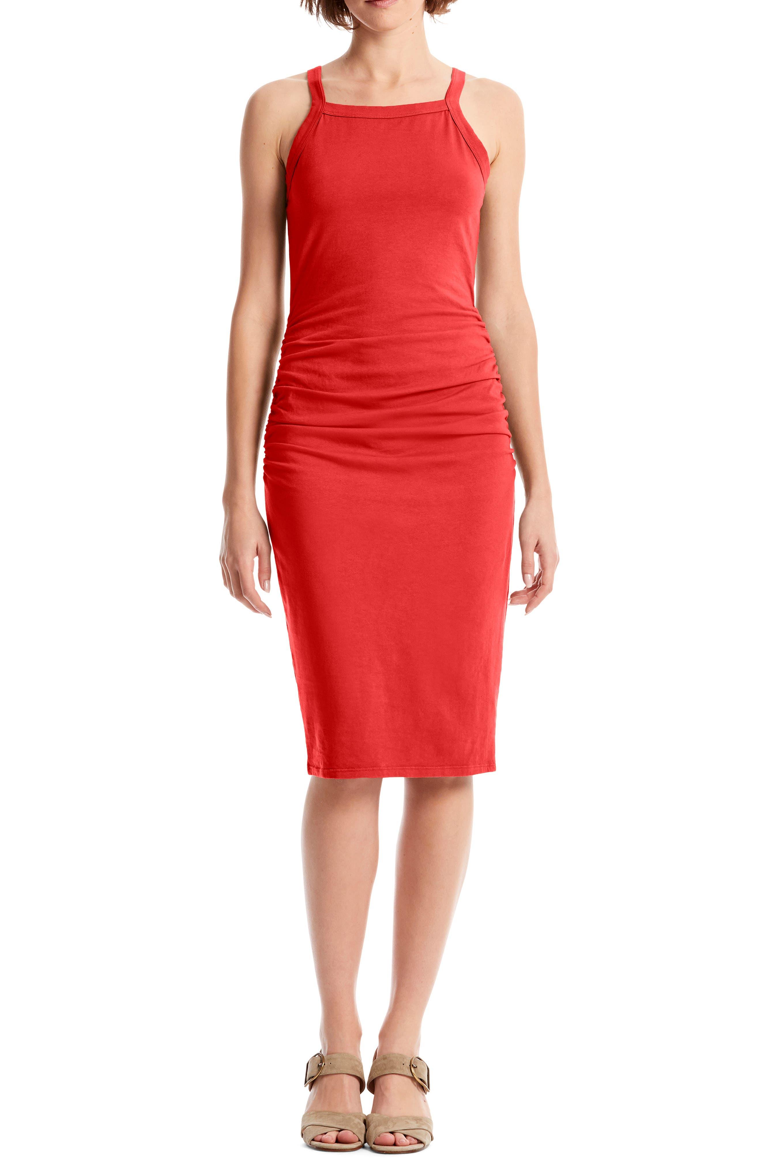 Michael Stars Rae Tank Dress, Red