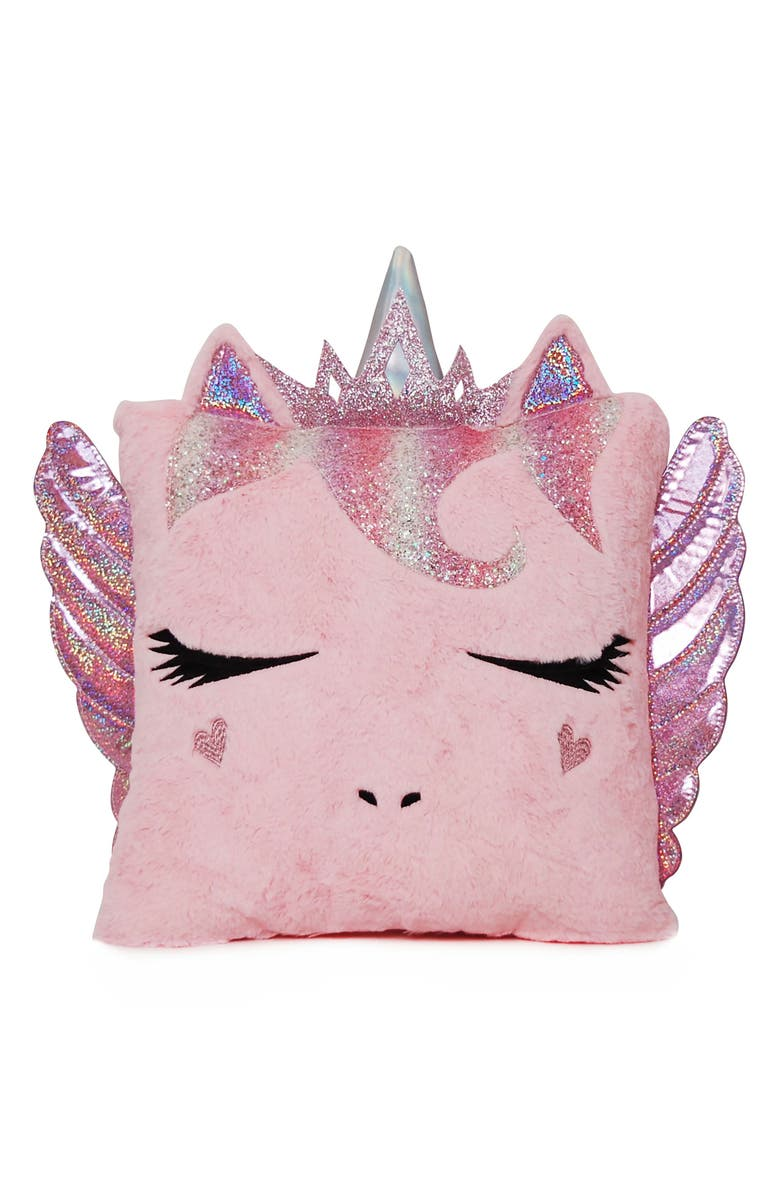 OMG ACCESSORIES OMG Miss Gwen Pegasus Pillow, Main, color, 662