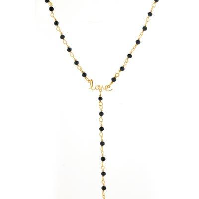 Adornia Rosary Love Lariat Necklace