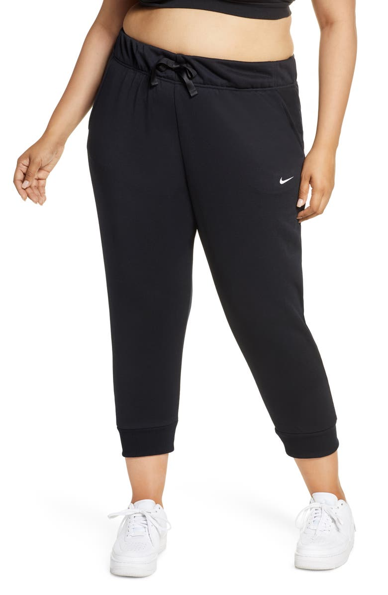 NIKE Dri-FIT One Crop Fleece Pants, Main, color, 010