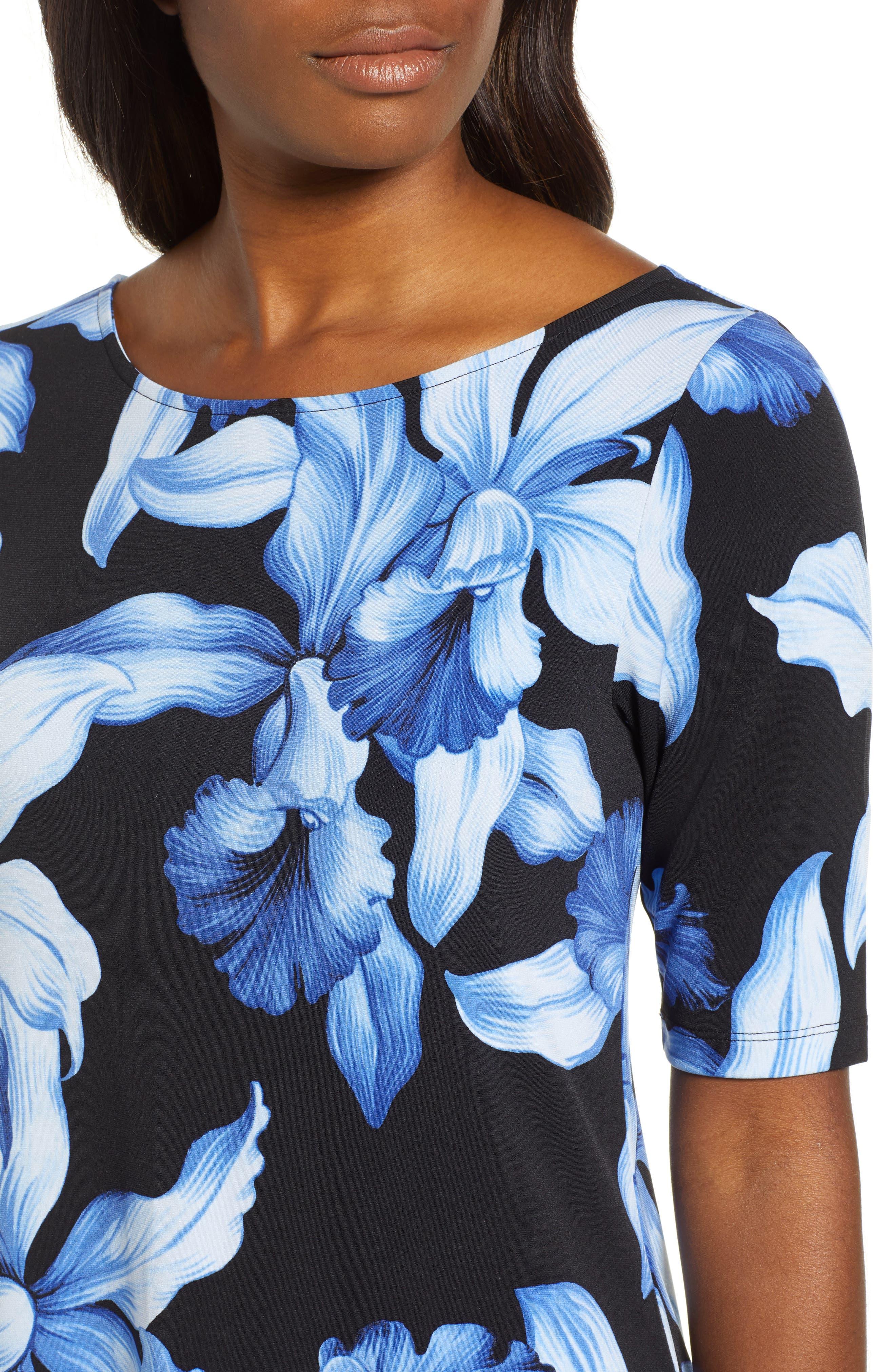 ,                             Orchid Rua Dress,                             Alternate thumbnail 5, color,                             BLACK