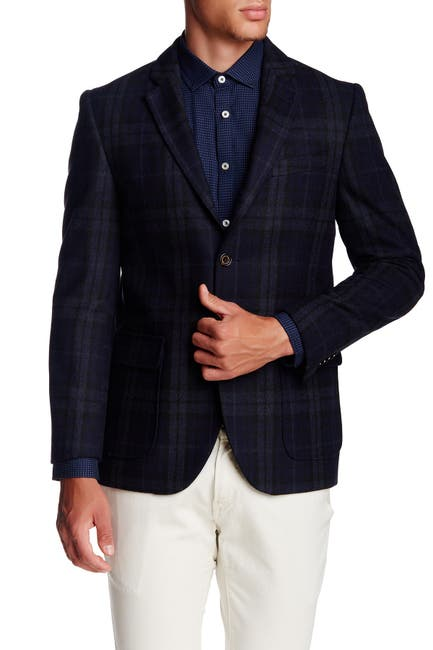 Image of Singer + Sargent Long Sleeve Plaid Check Blazer
