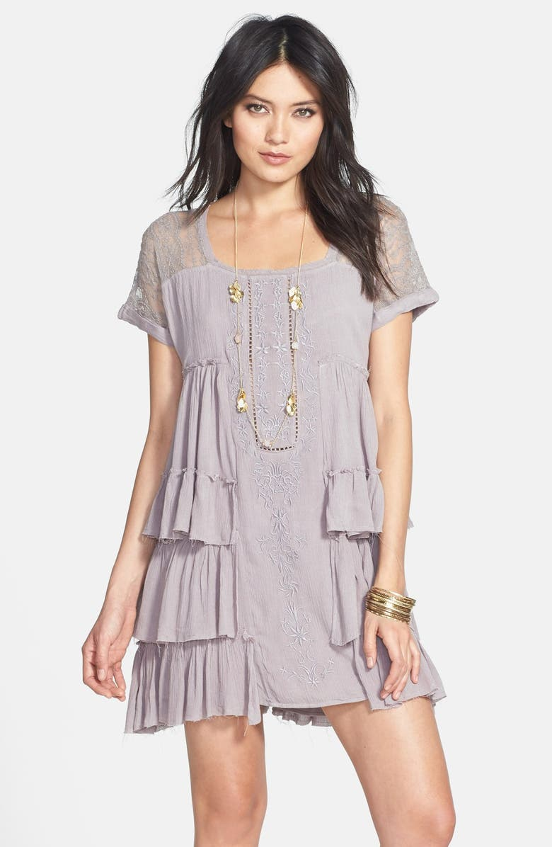 FREE PEOPLE 'Sunbeams' Minidress, Main, color, 090