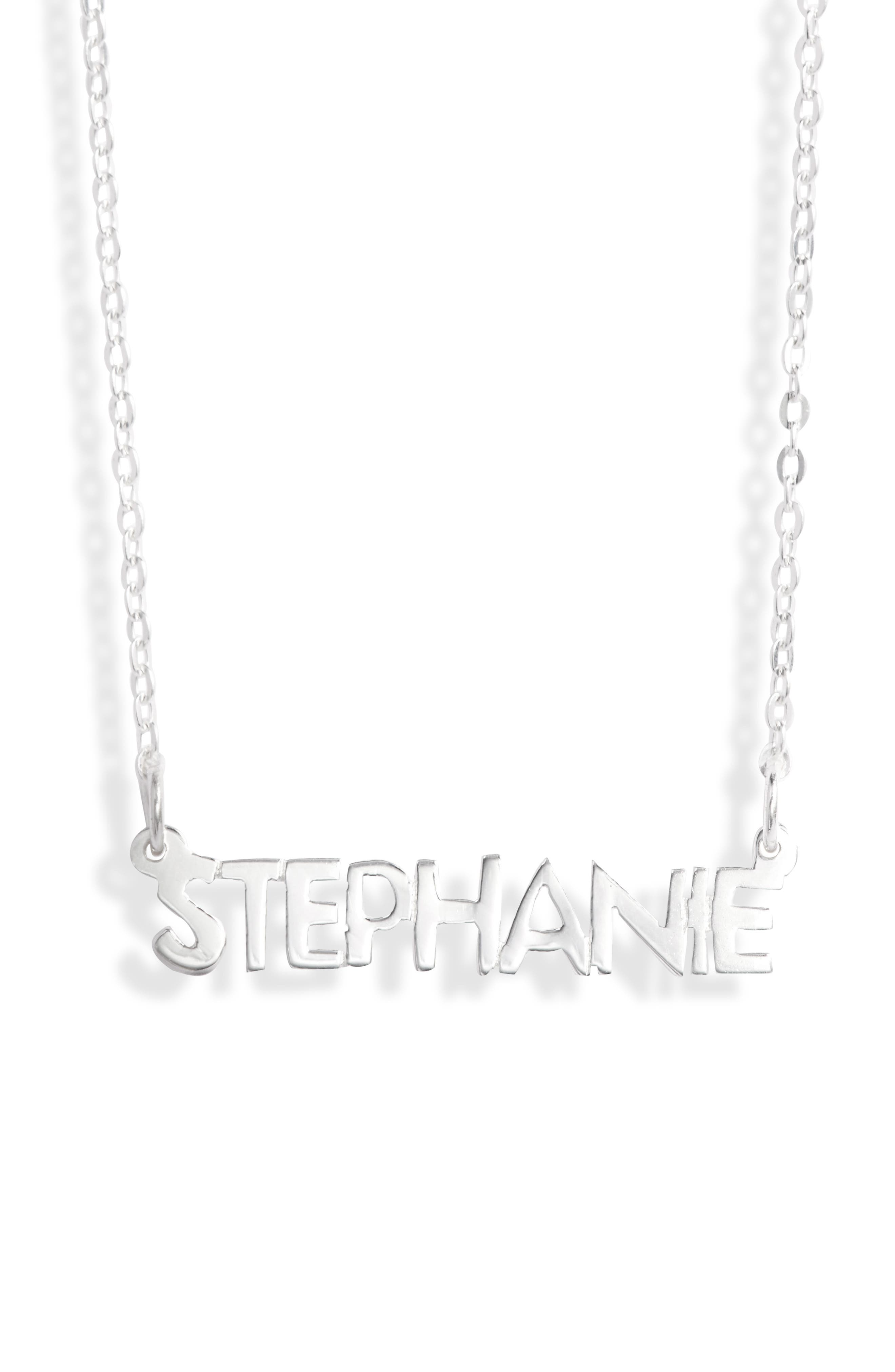 Women's Argento Vivo Small Personalized Name Necklace