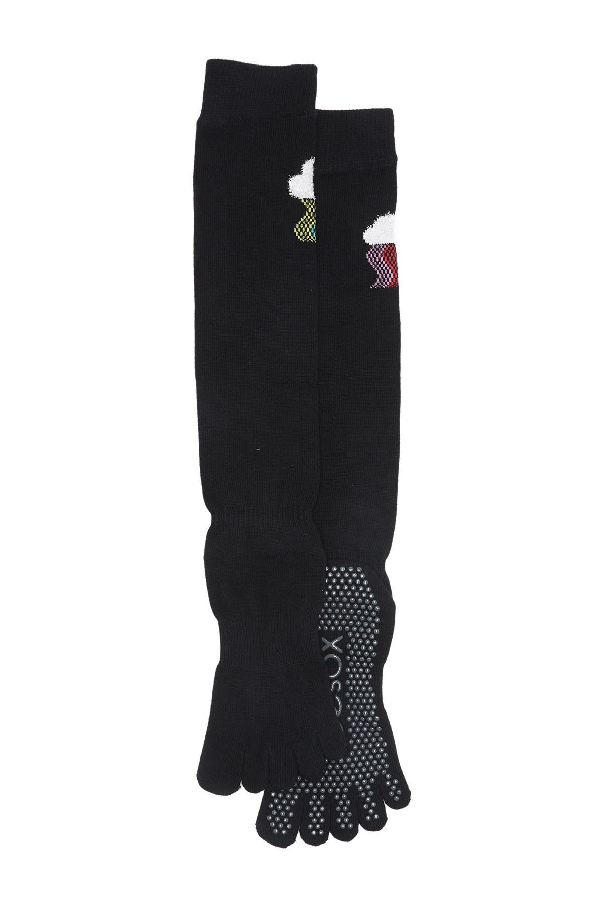 Image of ToeSox Full Toe Scrunch Knee High Grip Socks