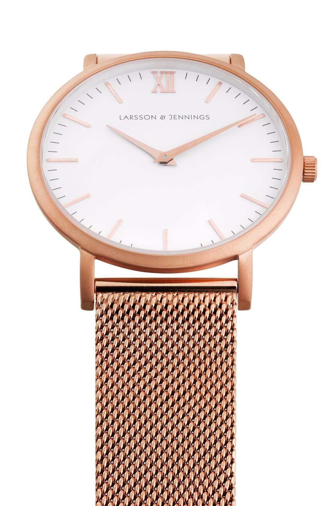 ,                             Lugano Mesh Strap Watch, 40mm,                             Alternate thumbnail 41, color,                             711