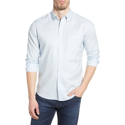 Faherty Regular Fit Stretch Oxford Button-Down Shirt, Blue