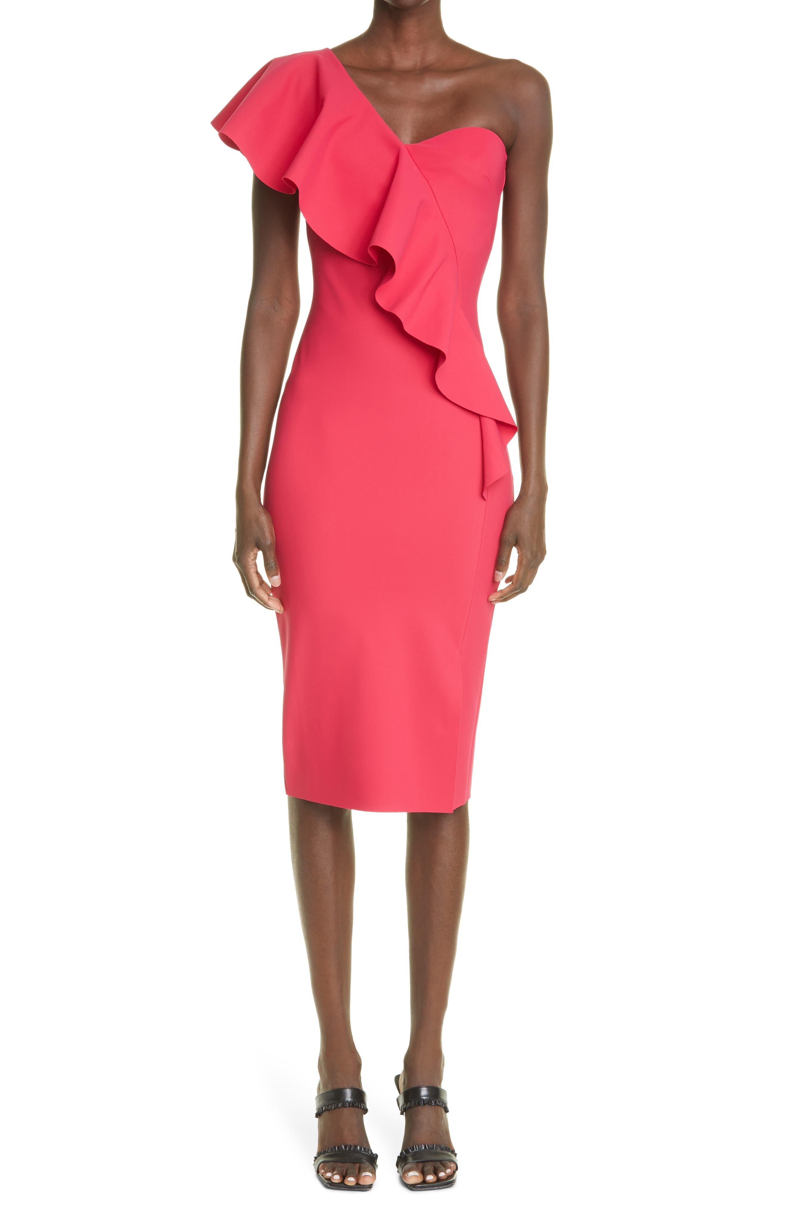 Vasilina One-Shoulder Ruffle Dress