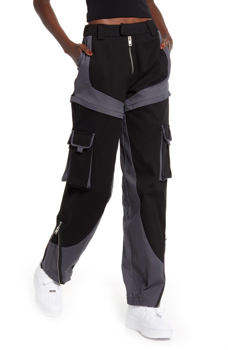 I.AM.GIA Frances Convertible Cargo Pants, Main, color, BLACK