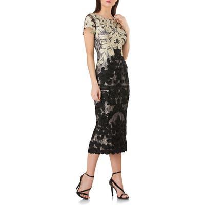 Js Collections Soutache Lace Midi Dress, Metallic