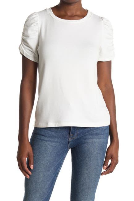 Image of Pleione Ruched Short Sleeve T-Shirt