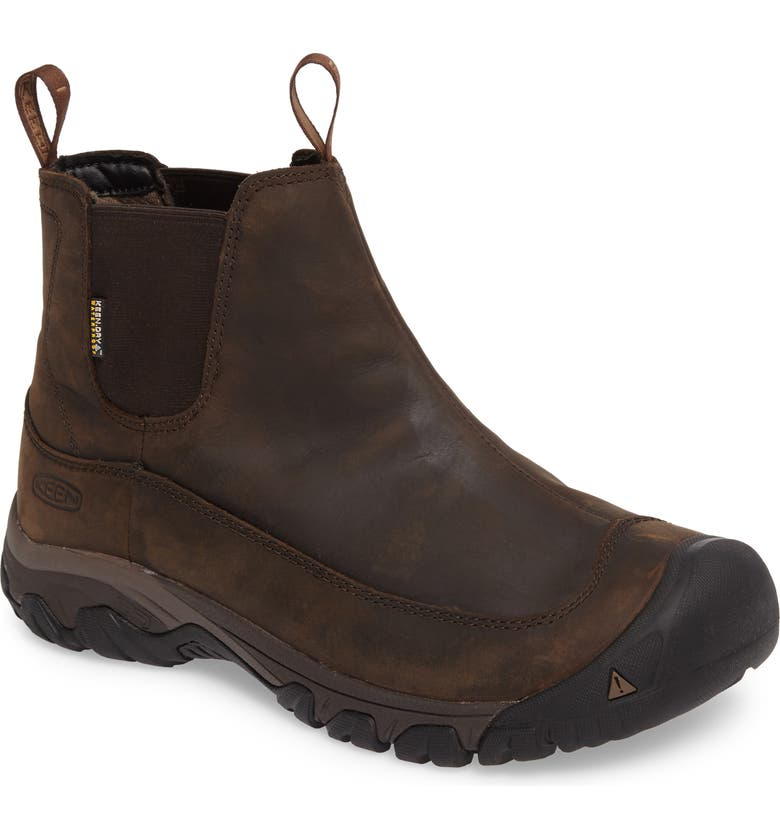 KEEN Anchorage II Waterproof Chelsea Boot, Main, color, DARK EARTH/ MULCH